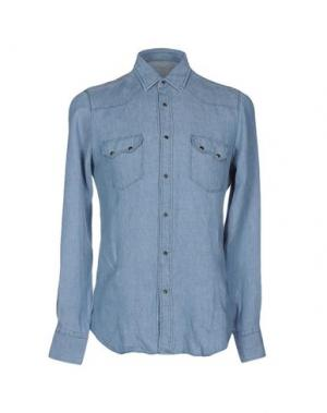 Джинсовая рубашка VANGHER N.7. Цвет: синий