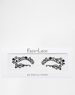 Facelace Декоративные наклейки для век Face Lace. Цвет: mini swirlyqueue 386