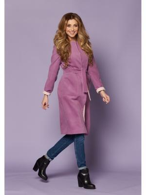 Пальто VERNA SEBE. Цвет: сиреневый, кремовый, персиковый