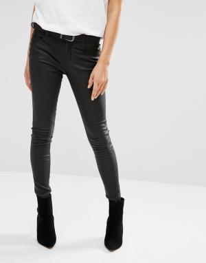 Muubaa Кожаные джинсы Eccleston. Цвет: черный
