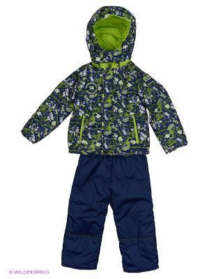 Комплект для мальчика демисезонный /куртка, полукомбинезон/ Rusland. Цвет: синий, салатовый