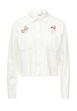 Рубашка джинсовая LOST INK. Цвет: белый