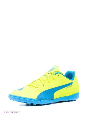 Бутсы evoSPEED 5.4 TT Jr Puma. Цвет: желтый