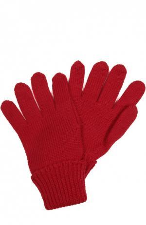 Вязаные перчатки из шерсти Il Trenino. Цвет: красный