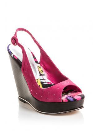 Замшевые босоножки Adina L07608 Bourne. Цвет: розовый