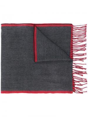Шарф с бахромой Dondup. Цвет: серый