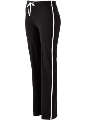 Спортивные брюки стретч (черный) bonprix. Цвет: черный