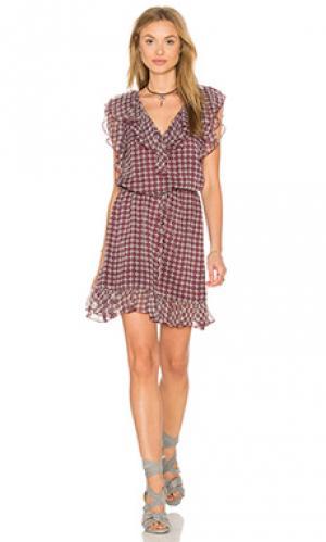 Платье с двумя складками Twelfth Street By Cynthia Vincent. Цвет: вишня