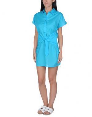 Пляжное платье MOSCHINO. Цвет: бирюзовый