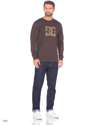 Лонгслив DC Shoes. Цвет: серо-коричневый, темно-коричневый