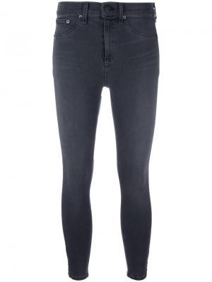 Укороченные брюки скинни Rag & Bone /Jean. Цвет: серый