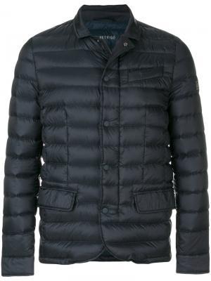 Пуховая куртка на молнии Hetregò. Цвет: синий