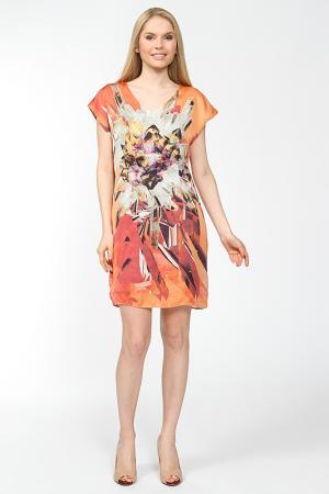 Легкое платье туника Arrangee. Цвет: оранжевый