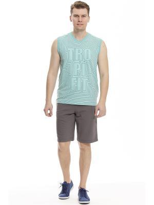 Комплект с шортами RELAX MODE. Цвет: серый