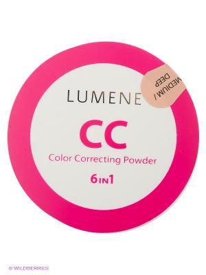 СС пудра Lumene Абсолютное совершенство Оттенок светлый средний, 10 гр. Цвет: бежевый, светло-бежевый