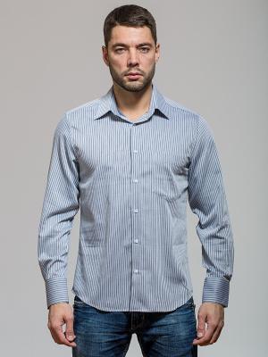 Рубашка John Jeniford. Цвет: серо-голубой