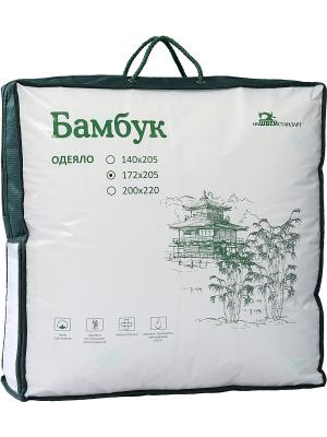 Одеяло БАМБУК ИвШвейСтандарт. Цвет: белый, зеленый, сливовый