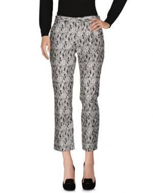 Повседневные брюки NINEMINUTES. Цвет: светло-серый
