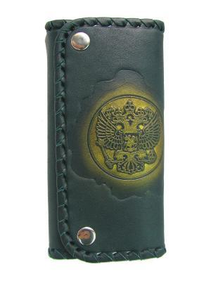 Футляр для ключей Кажан. Цвет: зеленый