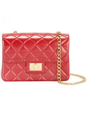 Стеганая сумка на плечо Milano Designinverso. Цвет: красный