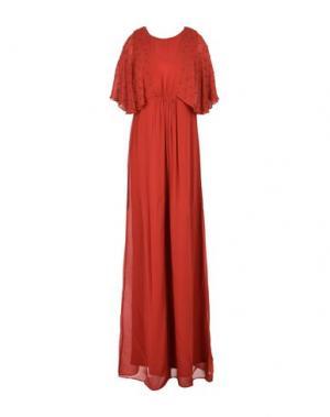 Длинное платье INTROPIA. Цвет: кирпично-красный
