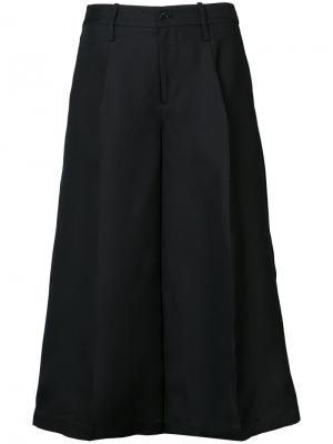 Широкие укороченные брюки Co. Цвет: чёрный