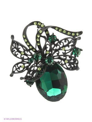 Брошь Royal Diamond. Цвет: зеленый