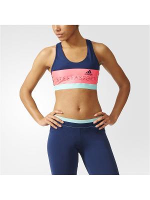 Спортивный бюстгальтер жен. SPORT BRA (PAD) Adidas. Цвет: темно-синий, розовый