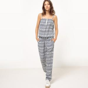 Комбинезон с брюками, на тонких бретелях MOLLY BRACKEN. Цвет: наб. рисунок синий