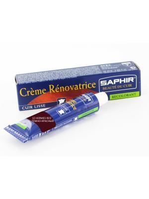 Восстановитель кожи Creme RENOVATRICE, 25 мл. (жидкая кожа)(12 ярко-красный) Saphir. Цвет: красный