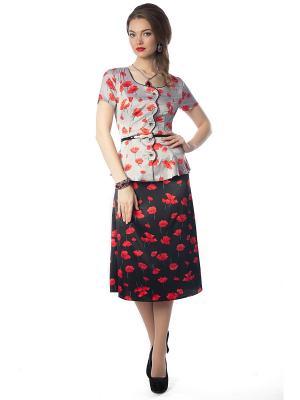 Комплект одежды Wisell. Цвет: красный, черный, серый