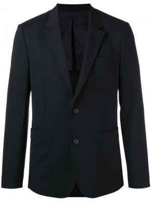 Пиджак на двух пуговицах с частичной подкладкой Ami Alexandre Mattiussi. Цвет: чёрный