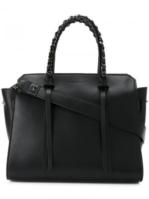 Chained double straps tote Elena Ghisellini. Цвет: чёрный