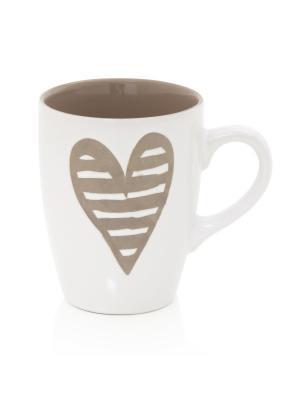 Керамическая кружка  Сердцебиение Brandani. Цвет: белый