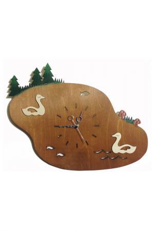 Часы Озеро W-ERA. Цвет: коричневый