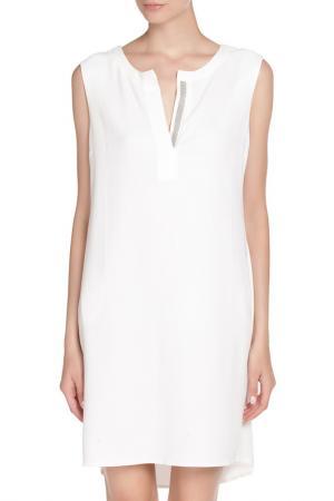 Платье с застежкой поло Vitacci. Цвет: молочный