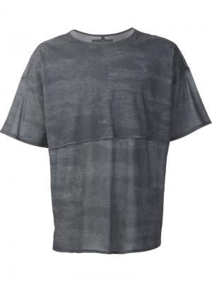 Многослойная футболка Siki Im. Цвет: серый