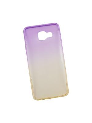 Силиконовый чехол LP для Samsung Galaxy A3 2016 (градиент фиолетовый/желтый) коробка Liberty Project. Цвет: фиолетовый, желтый