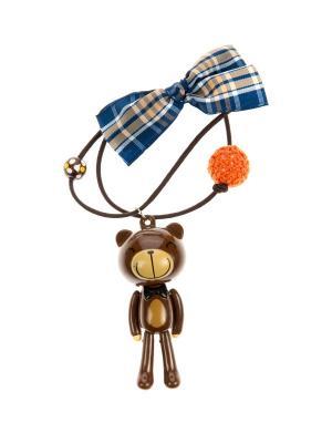 Резинка для волос LITTLE MANIA. Цвет: коричневый, оранжевый, синий