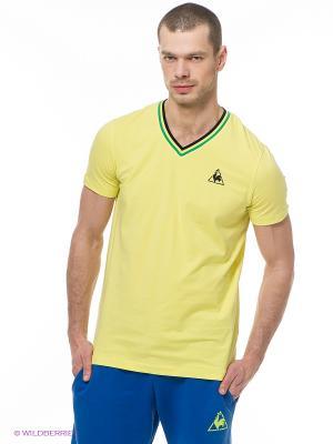 Футболка Le coq sportif. Цвет: светло-желтый