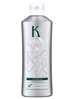 Кондиционер КераСис Уход за жирной кожей головы 180мл Kerasys. Цвет: зеленый, светло-серый