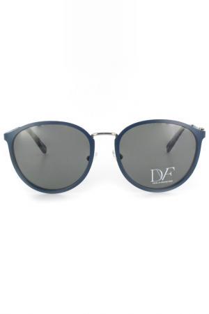 Очки солнцезащитные DVF. Цвет: синий