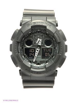 Часы G-SHOCK GA-100-1A1 CASIO. Цвет: черный