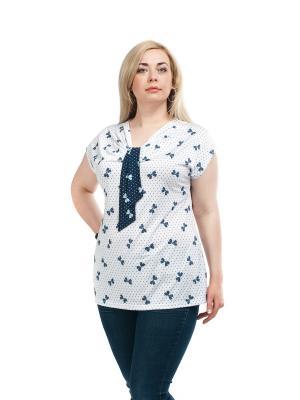 Блузка OLSI. Цвет: белый