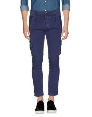 Повседневные брюки GREY DANIELE ALESSANDRINI. Цвет: грифельно-синий