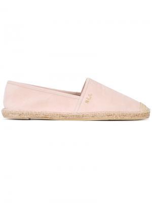 Эспадрильи с бляшкой логотипом Ralph Lauren. Цвет: розовый и фиолетовый