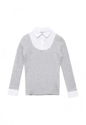 Блуза Free Age. Цвет: серый