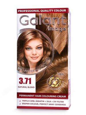 Cтойкая крем-краска для волос  GALANT 3.71 русый натуральный, 115 мл., (Болгария) Image. Цвет: светло-бежевый
