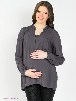 Блузка Mama Licious. Цвет: темно-серый