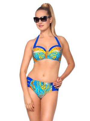 Купальник женский LORA GRIG. Цвет: синий, голубой, желтый